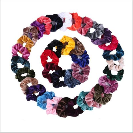 hot hair ring 46 color gold velvet large intestine hair ring head flower hair scrunchies NHOF263095's discount tags