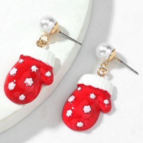 Boucles d'oreilles en alliage de Noël incrustées de résine perle NHJE263101's discount tags
