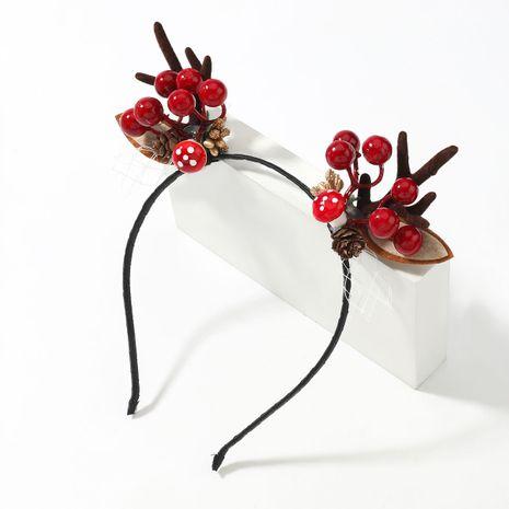 Kreatives Kiefernballharz-Flanellgeweih-Haarband der Weihnachtsserie NHJE263103's discount tags