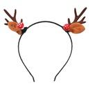 Christmas series resin mushroom flannel antler headband girl cute hair accessories NHJE263105