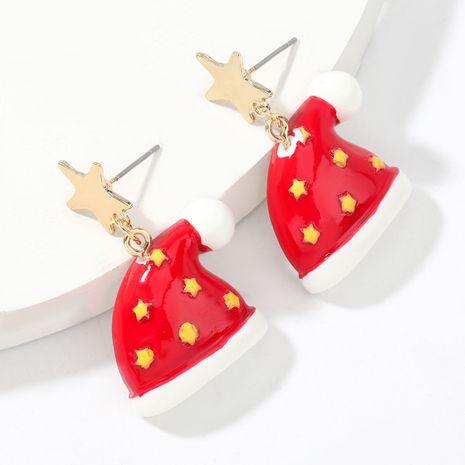 Pendientes de sombrero de Navidad de resina de estrella de aleación de Navidad pendientes de moda para mujer NHJE263106's discount tags