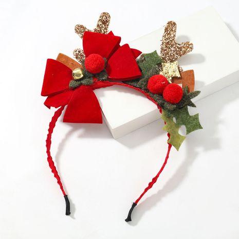 Bande de cheveux pour fille en bois de flanelle en flanelle de résine Christmas Series NHJE263108's discount tags
