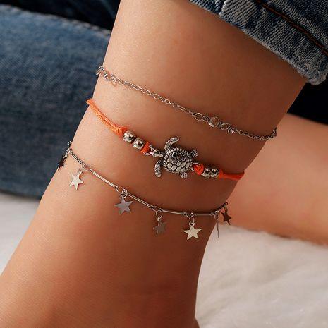 cheville tortue de vent de plage pendentif étoile à cinq branches anneau de pied ensemble d'ornement de pied NHGY263135's discount tags