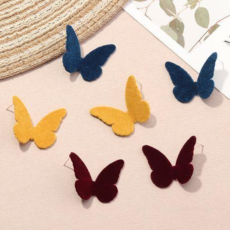 simples automne et hiver nouvelles boucles d'oreilles papillons flocage boucles d'oreilles colorées Morandi en gros NHNZ263155's discount tags