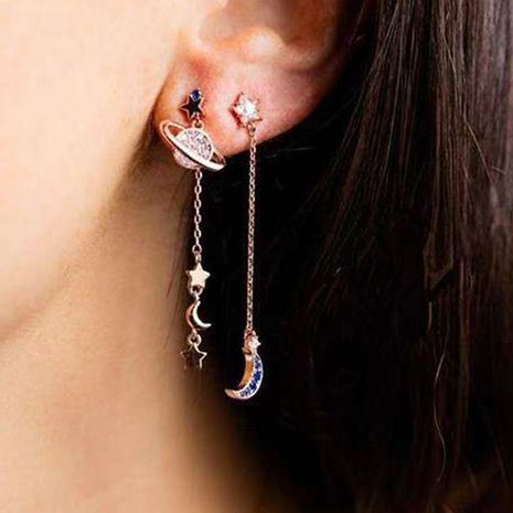 wholesale creative star and moon earrings long earrings for women NHNZ263157's discount tags
