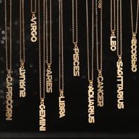 Moda inglesa doce constelaciones collar cadena de clavícula al por mayor NHNZ263165