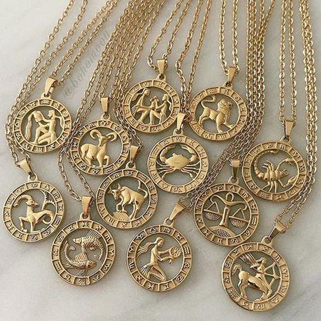 Collier de mode douze constellations pour hommes et femmes symbole cadeau chaîne de la clavicule NHNZ263167's discount tags