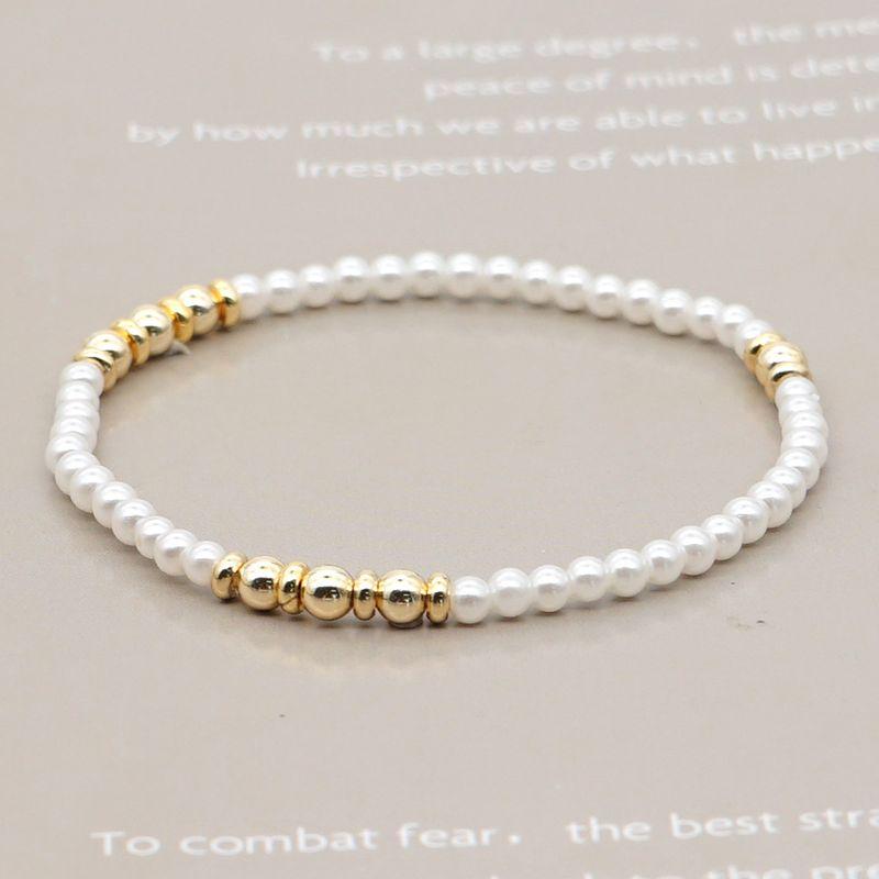 creative design fashion imitation pearl gold bead wholesale NHGW263170