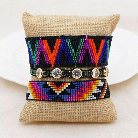 Hot selling fashion rice bead woven handmade star light diamond bracelet NHGW263174's discount tags