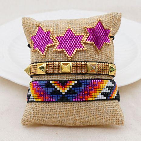 light luxury fashion rice bead woven ethnic handmade bracelet   NHGW263176's discount tags