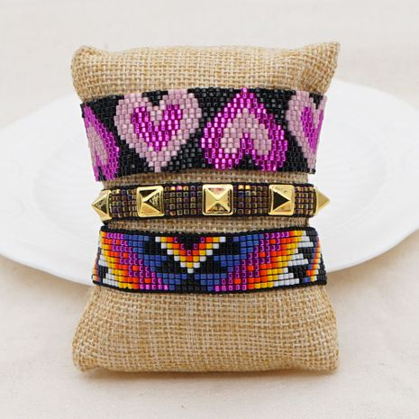 Hot selling fashion handmade retro light luxury fashion rivet bracelet NHGW263177's discount tags