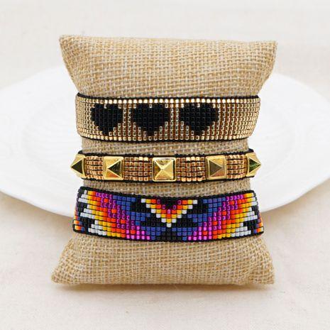light luxury premium versatile stacking rivet bracelet set NHGW263180's discount tags