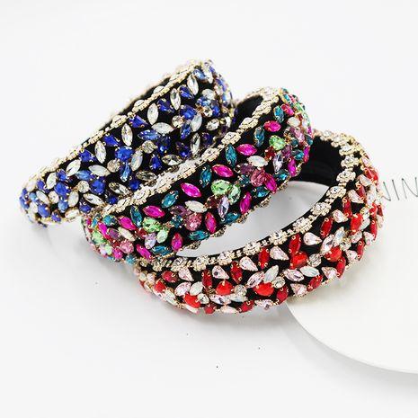 Diadema barroca nueva diadema exagerada de lujo con diamantes completos NHWJ263193's discount tags
