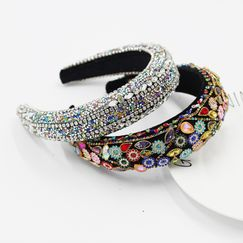 New  Baroque Sponge Color Rhinestone Exaggerated Women's headband  NHWJ263194