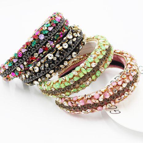 New  Baroque color rhinestone geometric luxury headband  NHWJ263195's discount tags