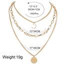 Nouveau collier pendentif rtro simple en alliage de pice ronde NHCT263199