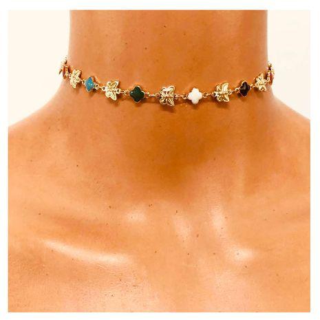collier papillon chaîne clavicule de style ethnique coloré NHCT263211's discount tags