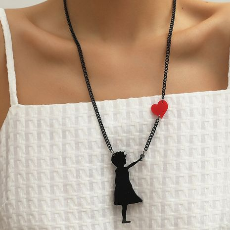 Retro simple individual dark style necklace Korea new acrylic balloon girl earrings NHKQ263233's discount tags