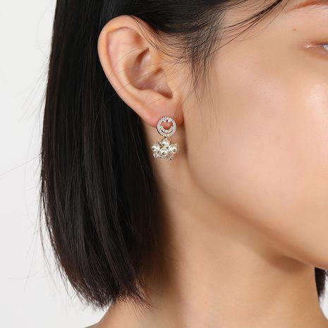 Pendientes de moda Corea S925 pendientes de diamantes de imitación con cara sonriente de aguja de plata NHKQ263234's discount tags