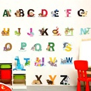 26 English letter stickers English words Cartoon animal Childrens room wall stickers NHAF263240