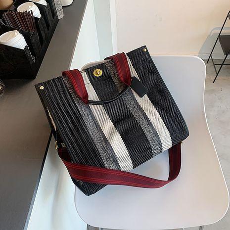 canvas big bag fashion all-match diagonal bag large capacity student shoulder handbag NHJZ263257's discount tags