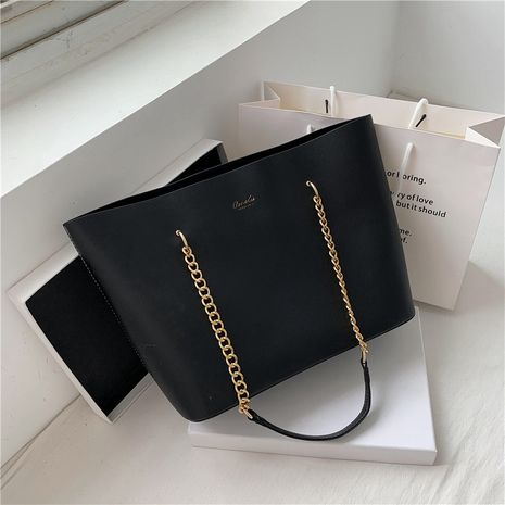 large-capacity fashion new Korean chain bag brown shoulder tote handbag  NHJZ263258's discount tags