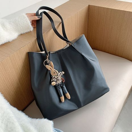 Large capacity soft tote bag messenger bag canvas Korean shoulder mother-and-child bag portable large bag NHJZ263261's discount tags
