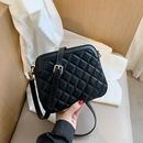 Lingge ladies small bag new trendy fashion allmatch shoulder messenger small square bag NHJZ263270