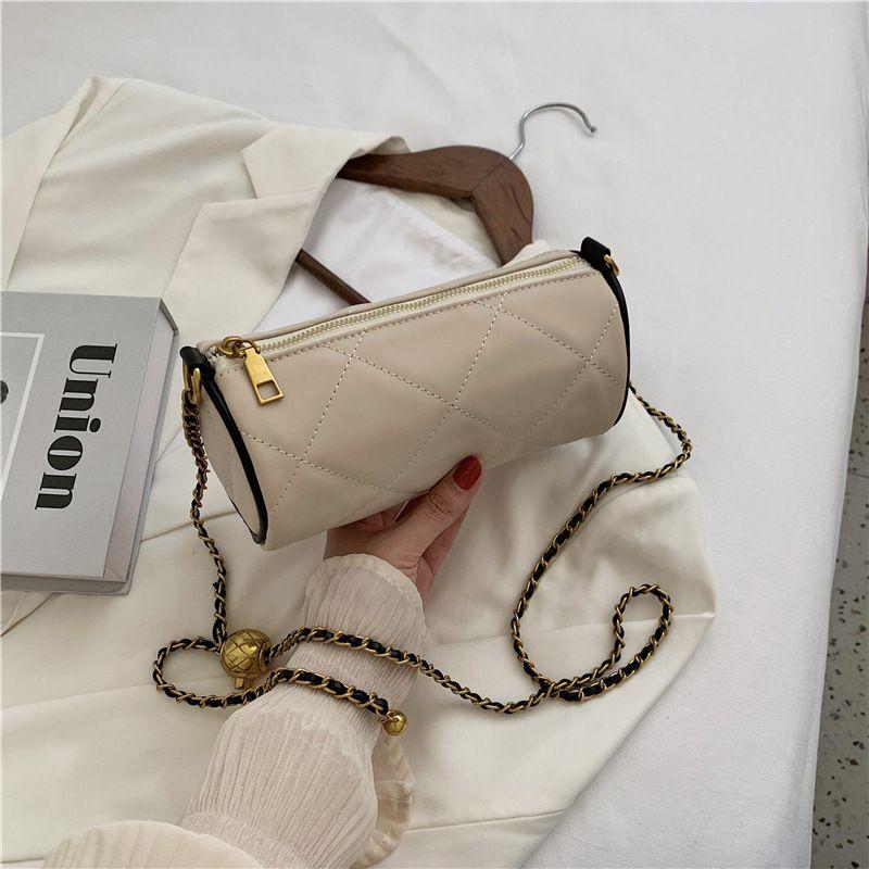 new trendy niche cylinder chain shoulder messenger fashion womens bag NHJZ263310
