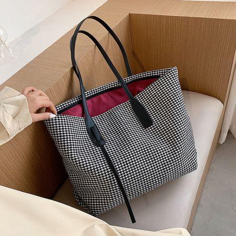 new large-capacity houndstooth bag Korean shoulder tote bag NHJZ263313's discount tags