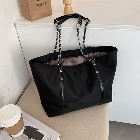Tote bag chain large capacity Oxford cloth bag waterproof casual shopping bag shoulder bag NHJZ263340's discount tags
