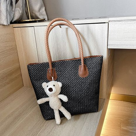 fashion tote bag trendy underarm bag single shoulder large capacity woven bag NHJZ263344's discount tags