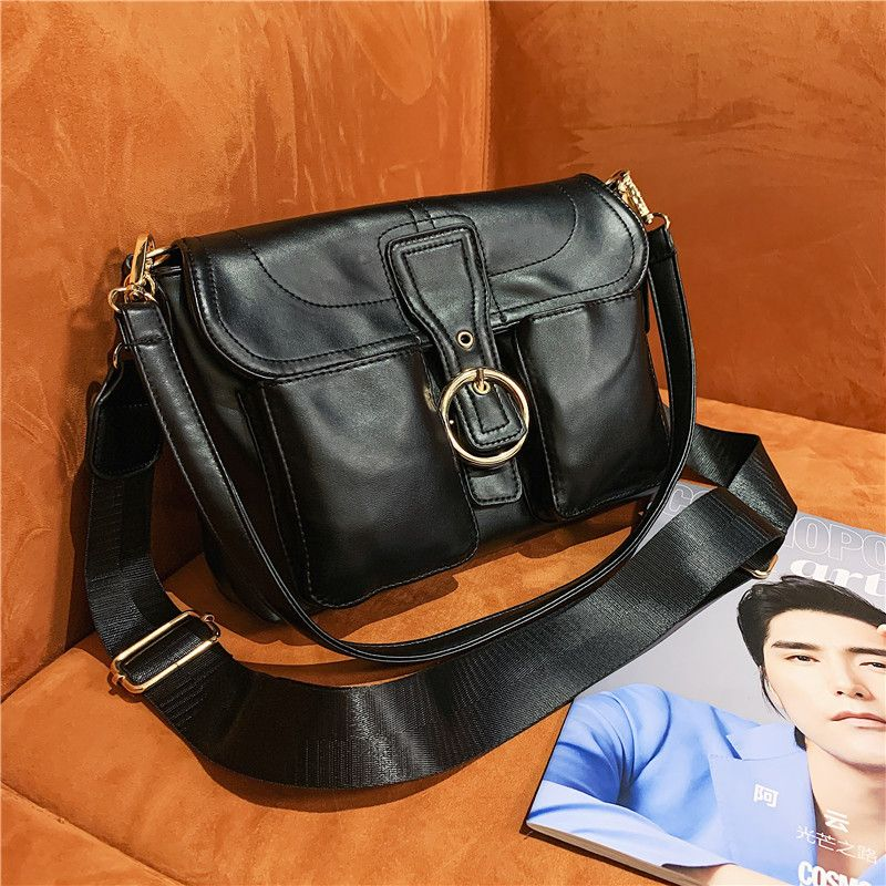 Casual versatile fashion simple small square bag one-shoulder diagonal portable small handbag NHJZ263345