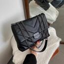 Korean fashion rhombus allmatch chain shoulder messenger small square bag NHJZ263380
