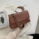 Retro small new wave Korean messenger chain shoulder fashion small square bag NHJZ263384