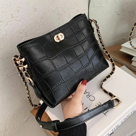 French bag for women autumn and winter all-match stone grain fashion shoulder bag NHLH263419's discount tags