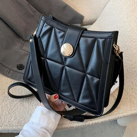 Simple small bag fashion chain rhombus messenger all-match shoulder bag NHLH263440's discount tags