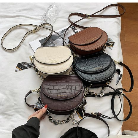retro bags autumn and winter new fashion single shoulder messenger saddle bag NHLH263450's discount tags