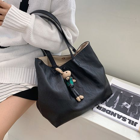 Simple soft surface big bag autumn and winter fashion large-capacity shoulder all-match handbag NHLH263457's discount tags