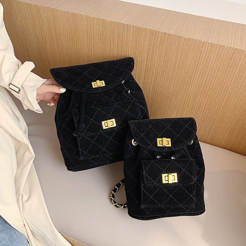 Small fashion allmatch texture singleshoulder messenger multifunctional diamond chain backpack NHLH263479