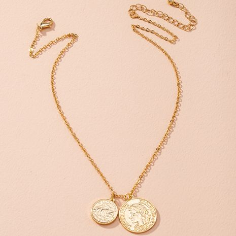 Fashion new retro trend embossed clavicle chain pendant necklace for women NHAI263519's discount tags