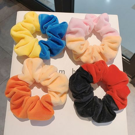 Korean new castle fugitive princess series girls hit color velvet large intestine hair scrunchies NHCQ263536's discount tags