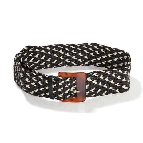fashion autumn new ladies wild checkered retro girdle decoration belt wholesale NHJQ263571's discount tags