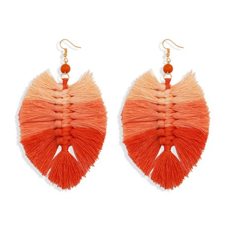 hot-saling hand-woven tassel small wool alloy earrings wholesale  NHJQ263573's discount tags