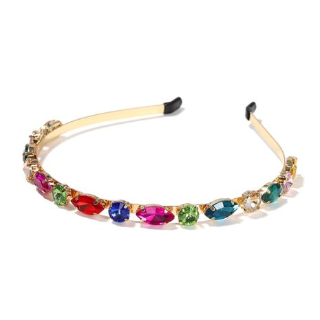 Moda simple barroco retro aleación diadema de diamantes 6 colores horquilla NHJQ263579's discount tags