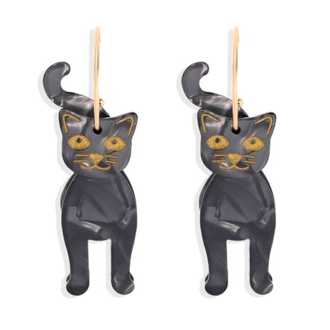 Halloween Black Cat Glossy Carnival Ghost Festival Party Dress Up New earrings NHJQ263585's discount tags