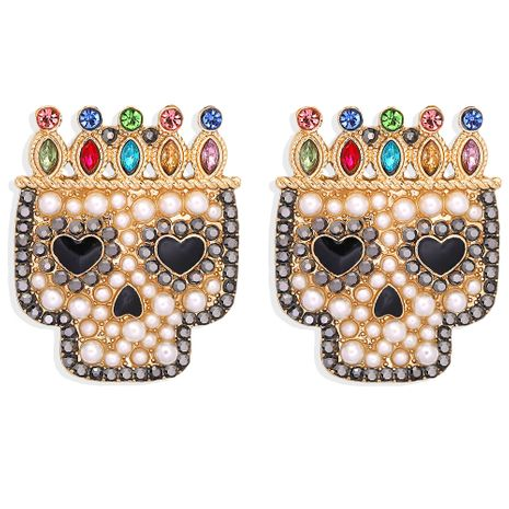 Halloween new dark skull ghost head fun fashion earrings NHJQ263586's discount tags
