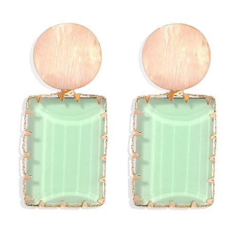 Retro geometric simple square Korean fashion exaggerated acrylic earrings  NHJQ263592's discount tags
