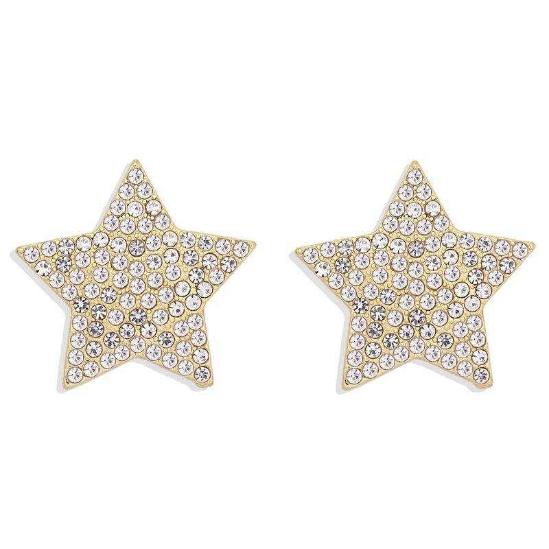 flashing diamond five-pointed star small exquisite sweet star simple geometric girls earrings NHJQ263593