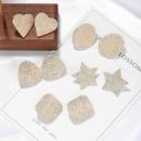 hot sale autumn wholesale alloy full diamond womens silver earrings NHJQ263596